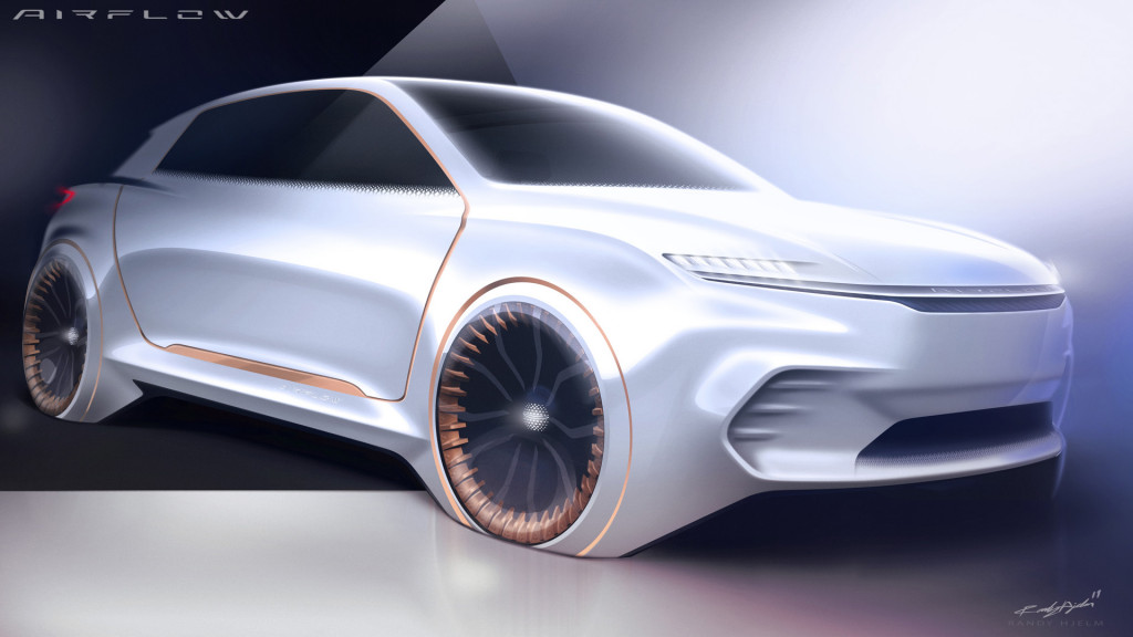 Teaser for Fiat Chrysler Automobiles Airflow Vision concept debuting at 2020 CES