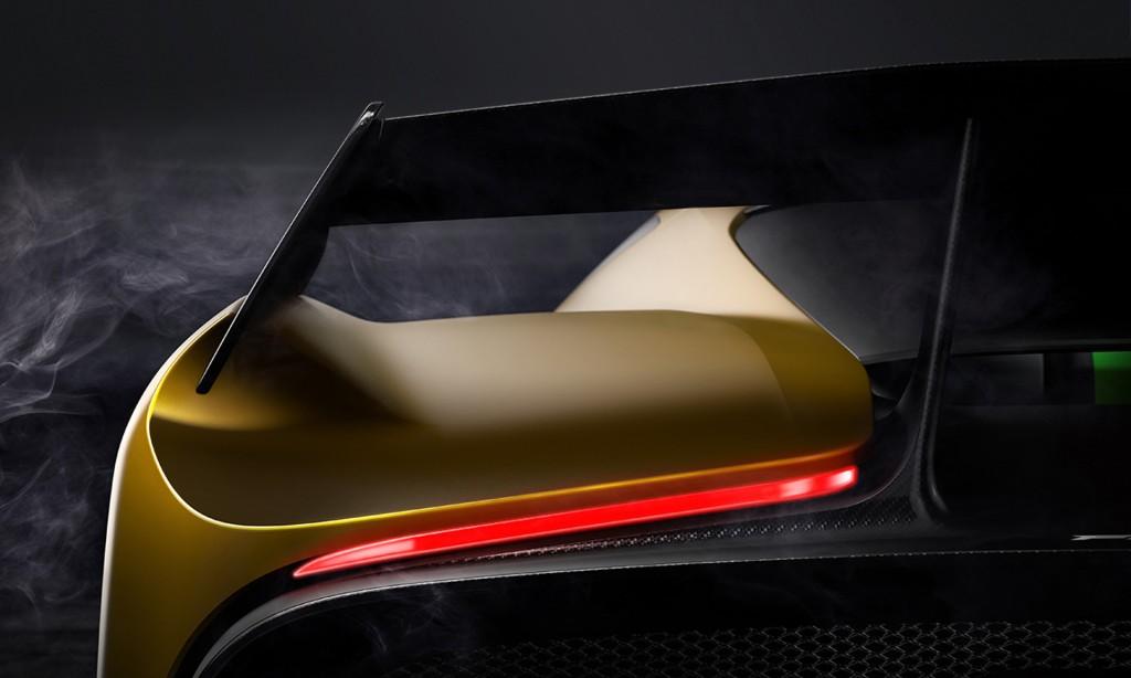 Teaser for Fittipaldi EF7 Vision Gran Turismo by Pininfarina debuting at 2017 Geneva auto show