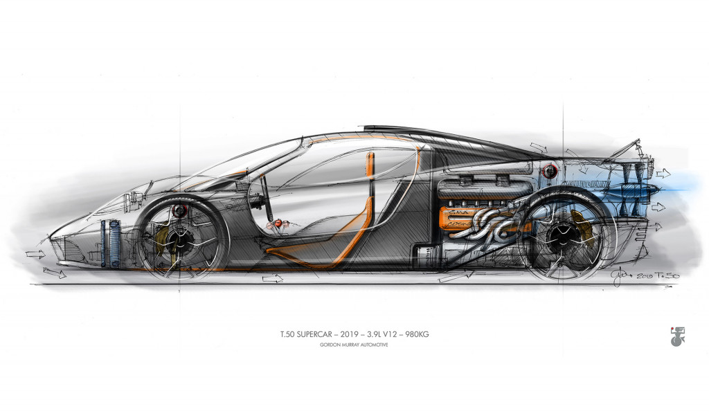 Teaser for GMA T50 supercar due in 2022
