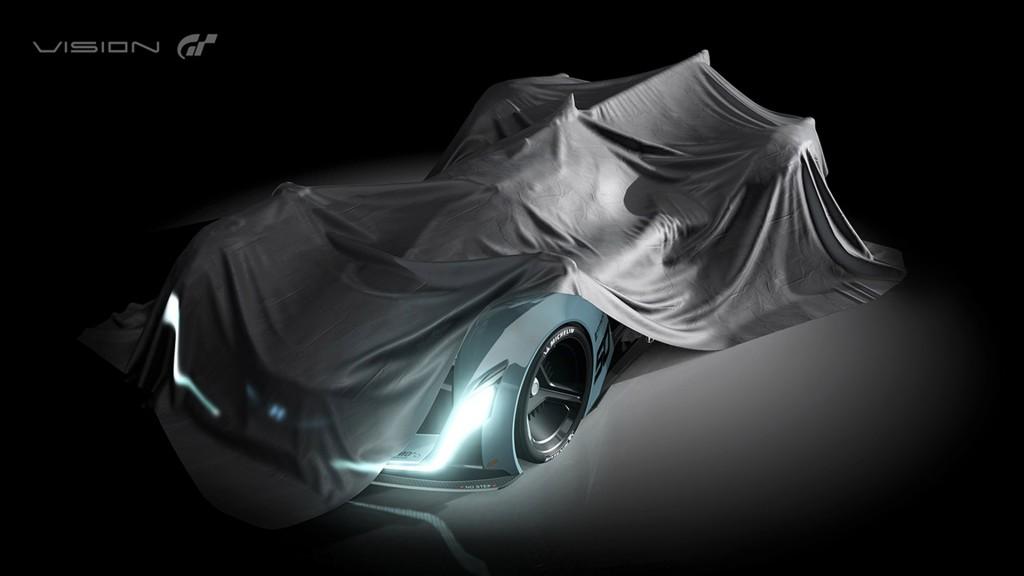 Teaser for Hyundai N 2025 Vision Gran Turismo concept debuting at 2015 Frankfurt Auto Show