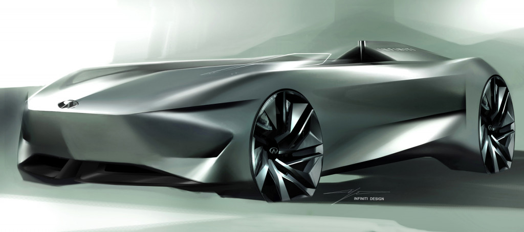 Infiniti Prototype 10 speedster concept takes shape in new teaser sketch
