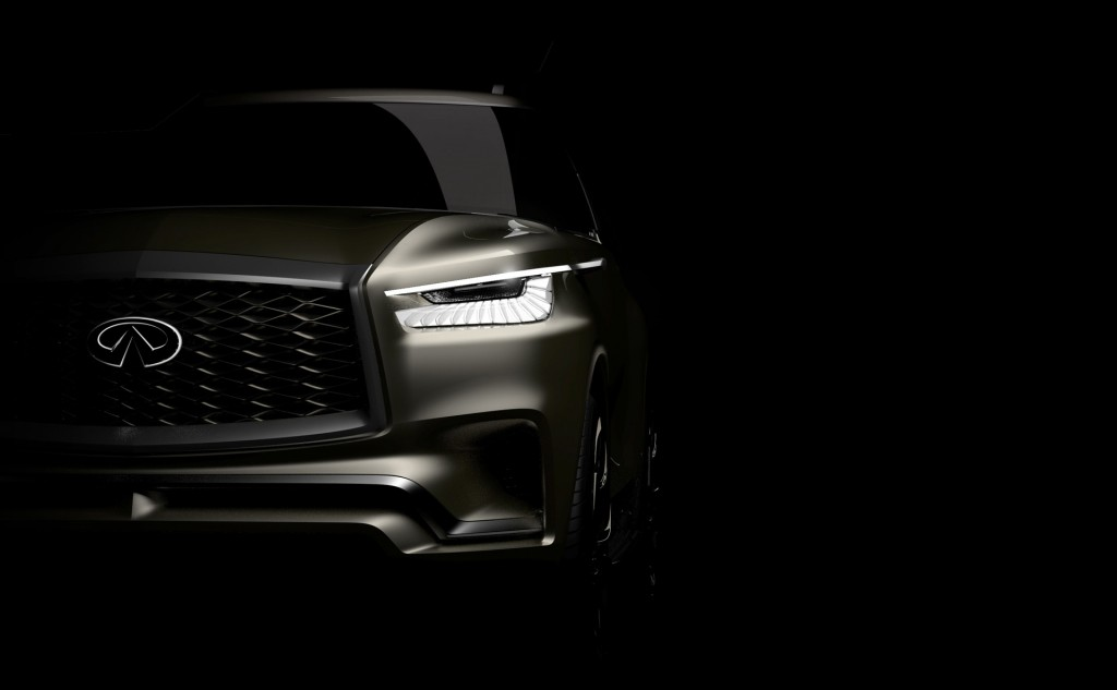 Teaser for Infiniti QX80 Monograph concept debuting at 2017 New York auto show