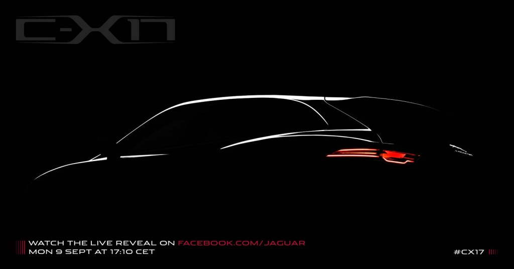 Teaser for Jaguar C-X17 crossover concept