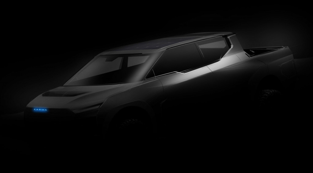Teaser for Karma extended-range electric pickup concept
