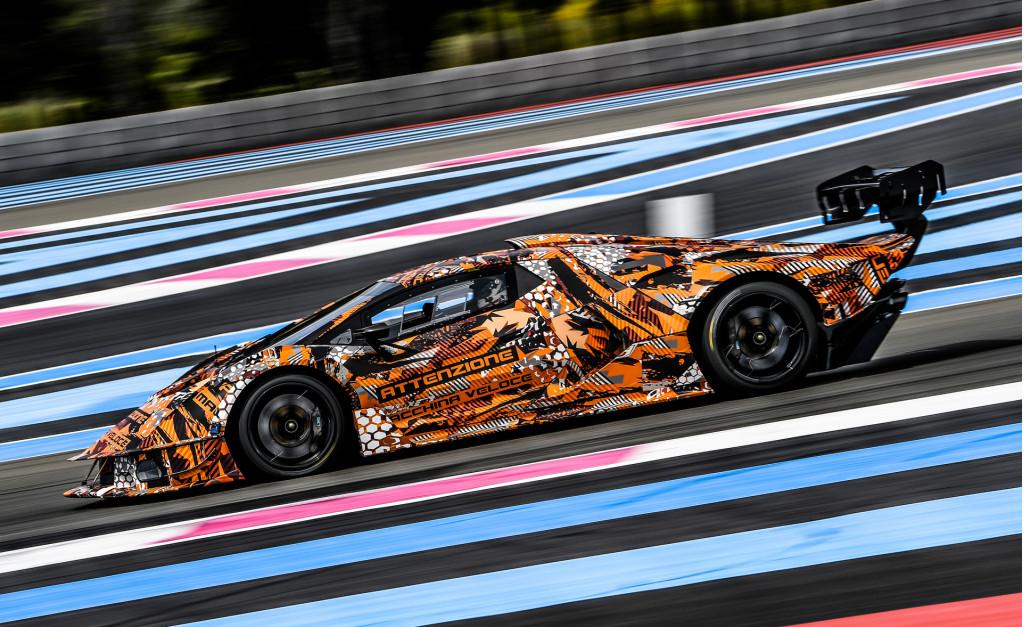 Teaser for Lamborghini SCV12 debuting in summer 2020