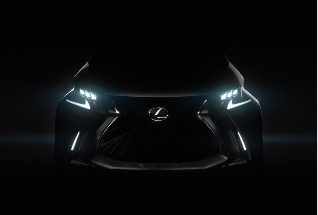 Teaser for Lexus LF-SA concept debuting at 2015 Geneva Motor Show