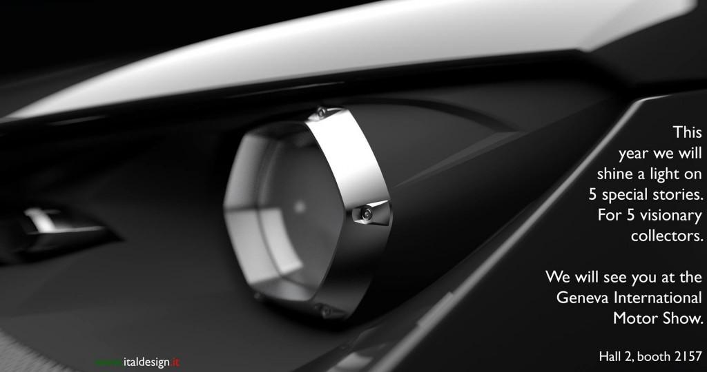Teaser for limited edition Italdesign Giugiaro car debuting at 2017 Geneva auto show