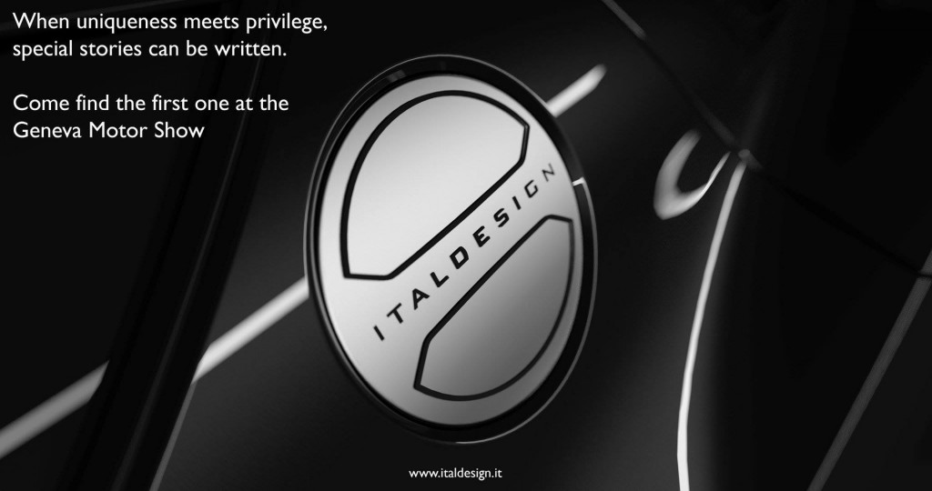 Teaser for limited edition Italdesign Giugiaro car debuting at 2017 Geneva auto show