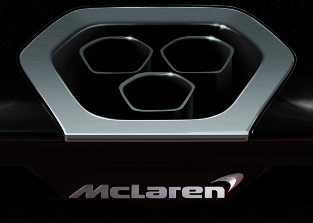 Teaser for McLaren P15 supercar debuting in first quarter of 2018