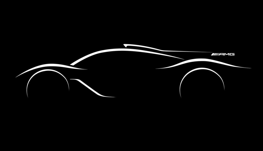 Teaser for Mercedes-AMG Project One debuting at 2017 Frankfurt auto show