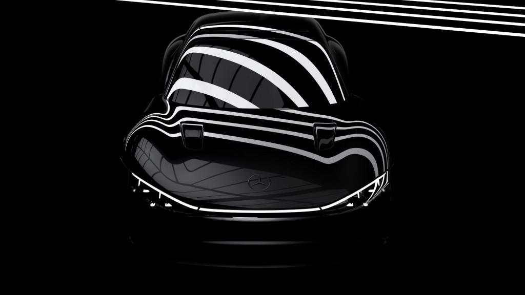 Teaser for Mercedes-Benz Vision EQXX concept debuting 2022