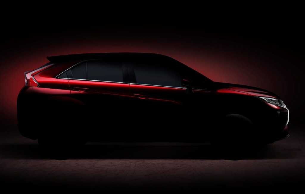 Teaser for Mitsubishi SUV debuting at 2017 Geneva auto show