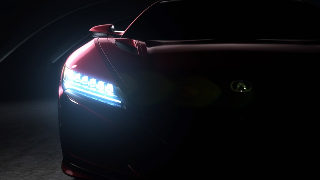 Teaser for new Acura NSX debuting at 2015 Detroit Auto Show