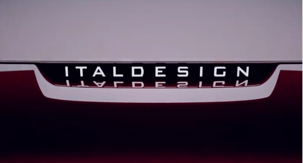 Teaser for new Italdesign car coming to 2019 Geneva Motor Show