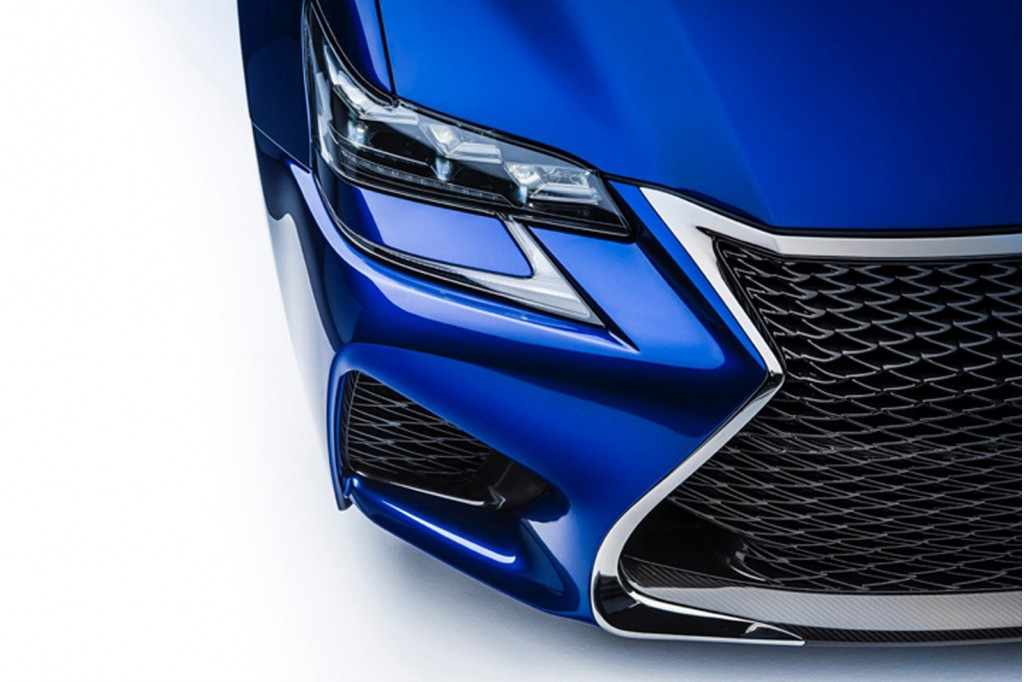Teaser for new Lexus F performance vehicle debuting at the 2015 Detroit Auto Show