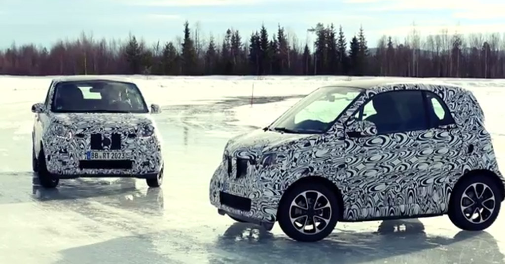 Teaser for new Smart Fortwo and Forfour
