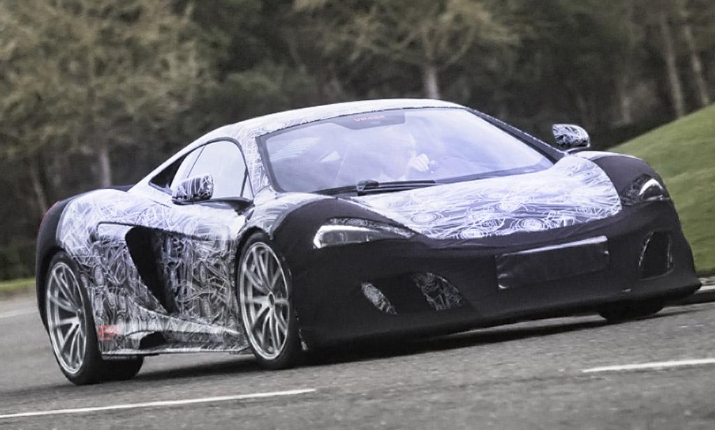 Teaser for McLaren 675LT debuting at 2015 Geneva Motor Show