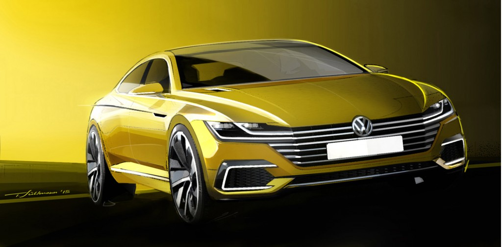 Teaser for new Volkswagen concept previewing next-generation CC