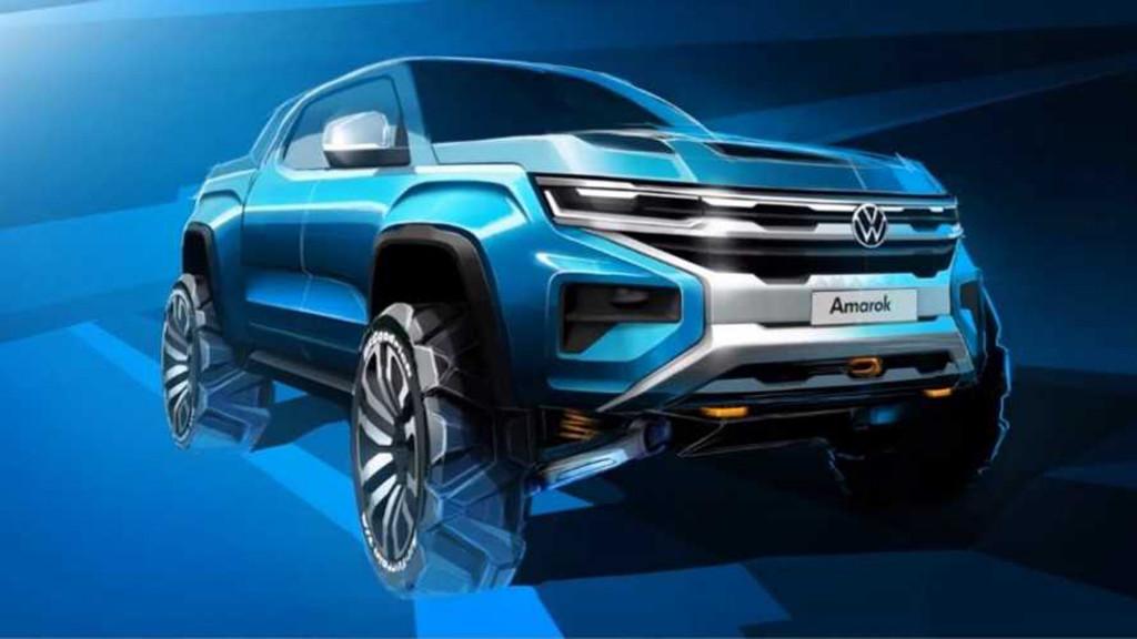 Teaser for next Volkswagen Amarok due in 2022 - Photo credit: Motor1