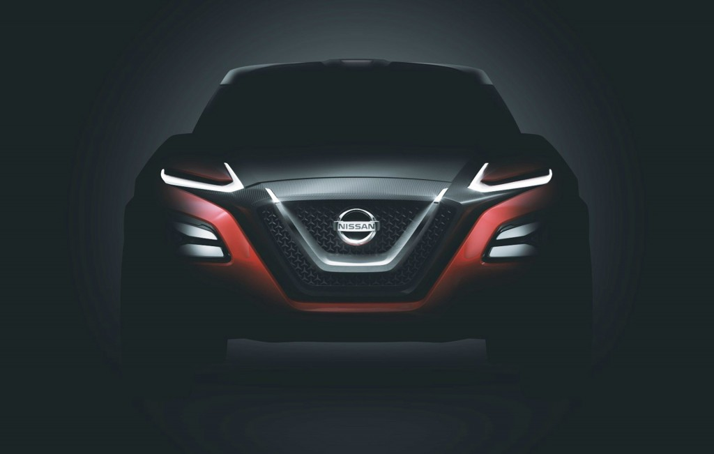 Teaser for Nissan Gripz concept debuting at 2015 Frankfurt Auto Show