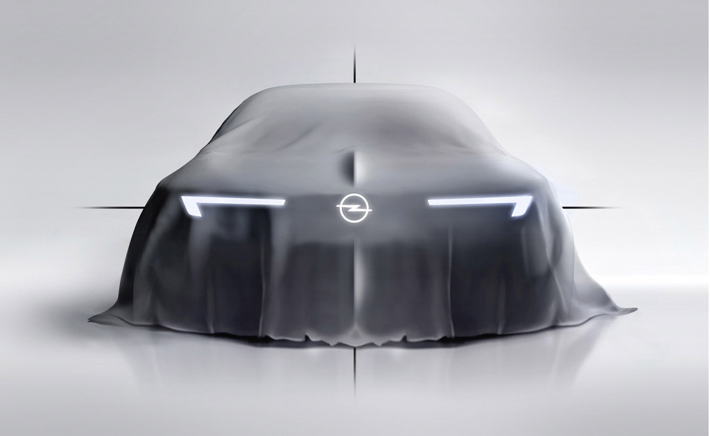 "Teaser for Opel concept introducing ""bold and pure"" design language"
