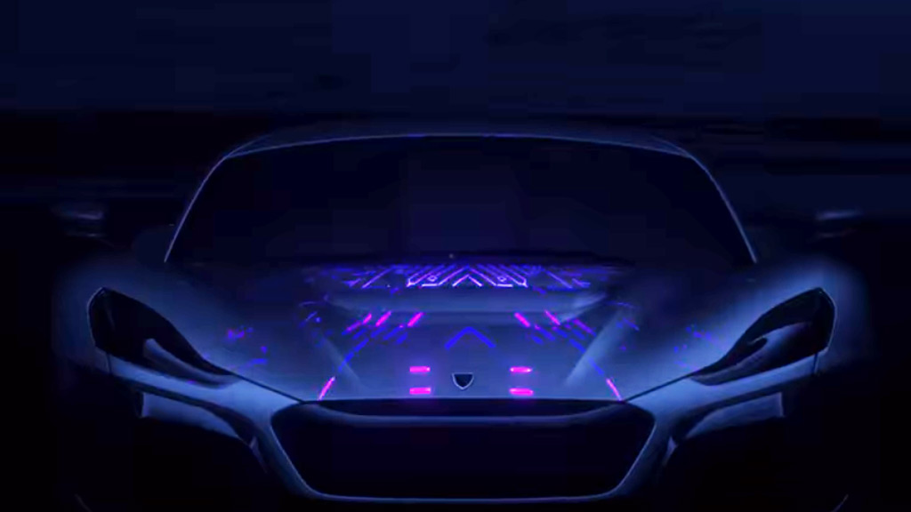 Teaser for Rimac supercar debuting at 2018 Geneva auto show