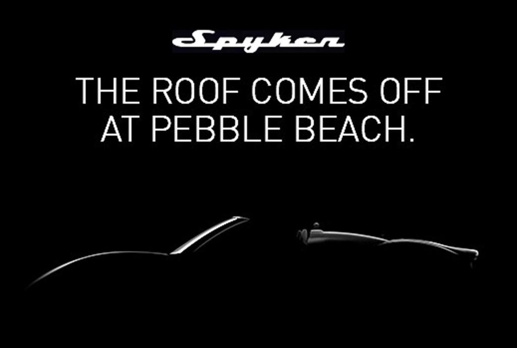 Teaser for Spyker B6 Venator Spyder concept