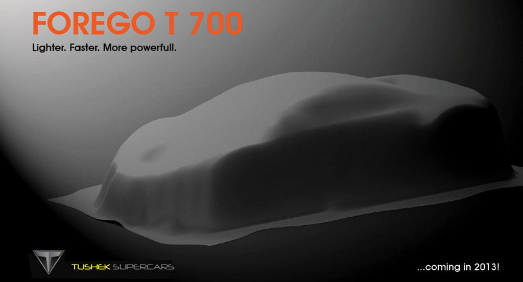 Teaser for Tushek Forego T700 supercar