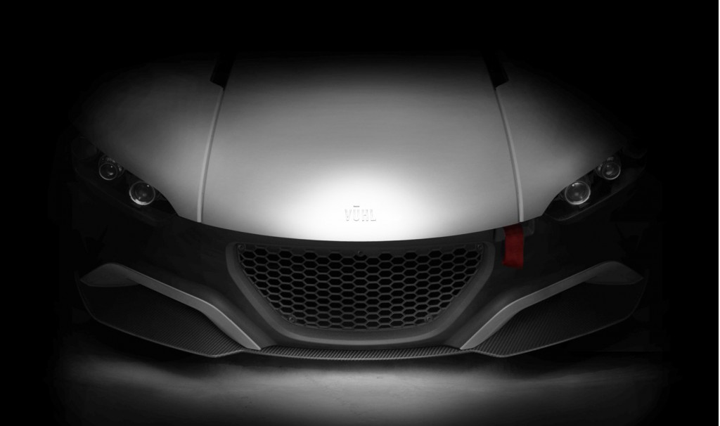 Teaser for VŪHL 05 sports car