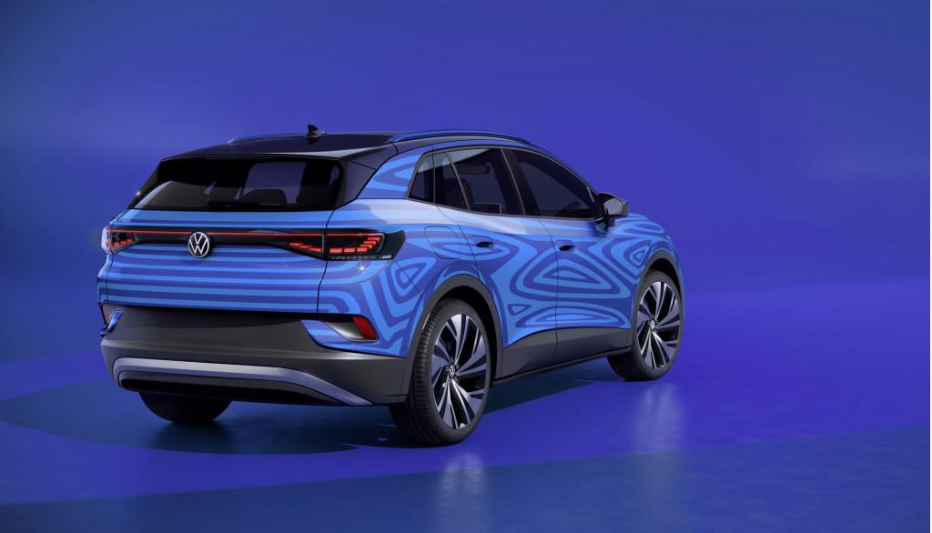 Teaser for Volkswagen ID 4 debuting in September 2020