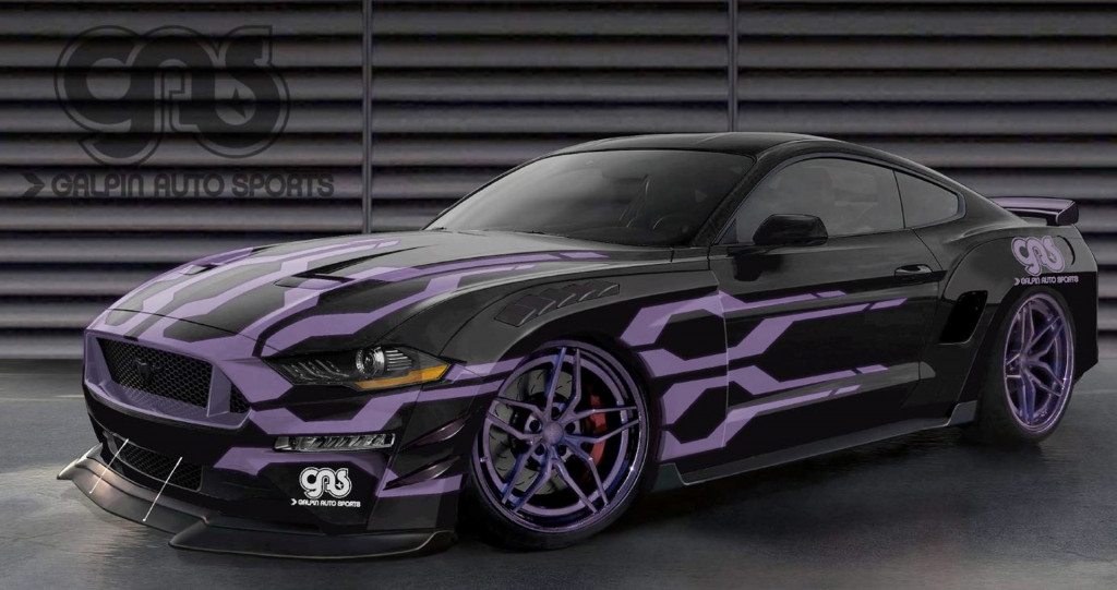 Teaser sketch for 2019 Galpin Auto Sports Ford Mustang GT debuting at 2018 SEMA show