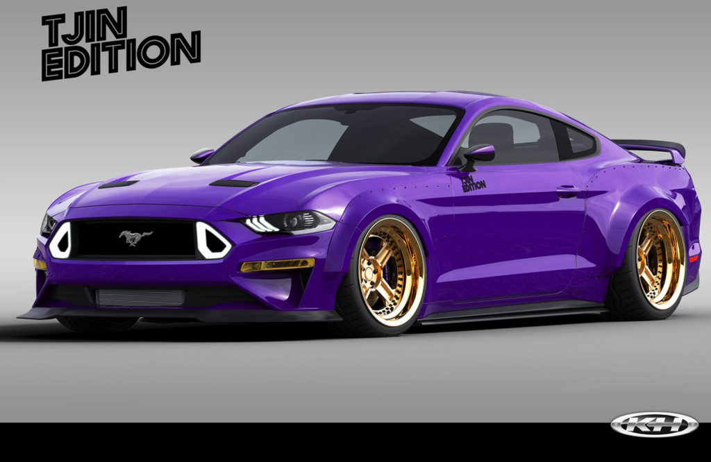 Teaser sketch for 2019 TJIN Edition Ford Mustang EcoBoost debuting at 2018 SEMA show