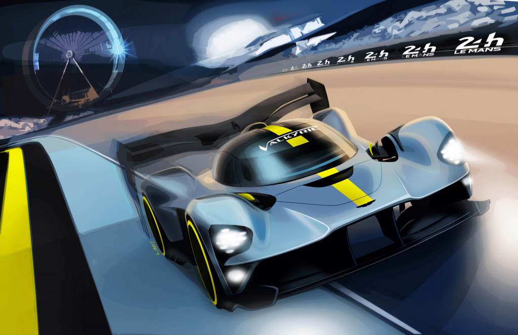 Teaser for 2020/2021 Aston Martin Valkyrie World Endurance Championship Hypercar class race car