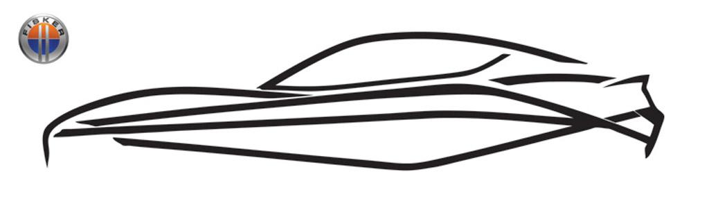 Teaser sketch for Fisker Project Nina range-extended electric car