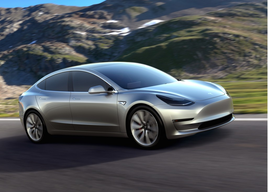 Image: Tesla Model 3 design prototype - March 2016, size ...
