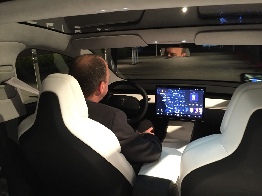Tesla Model 3 design prototype  -  piloted by VP Doug Field