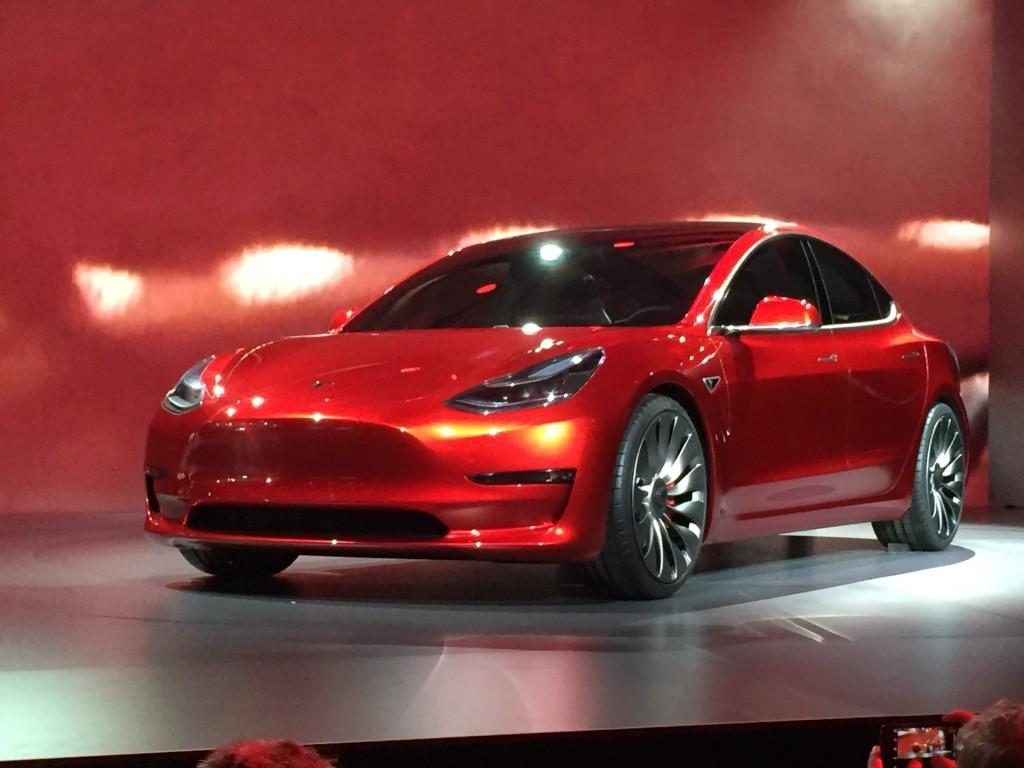 Image: Tesla Model 3 design prototype - reveal event ...
