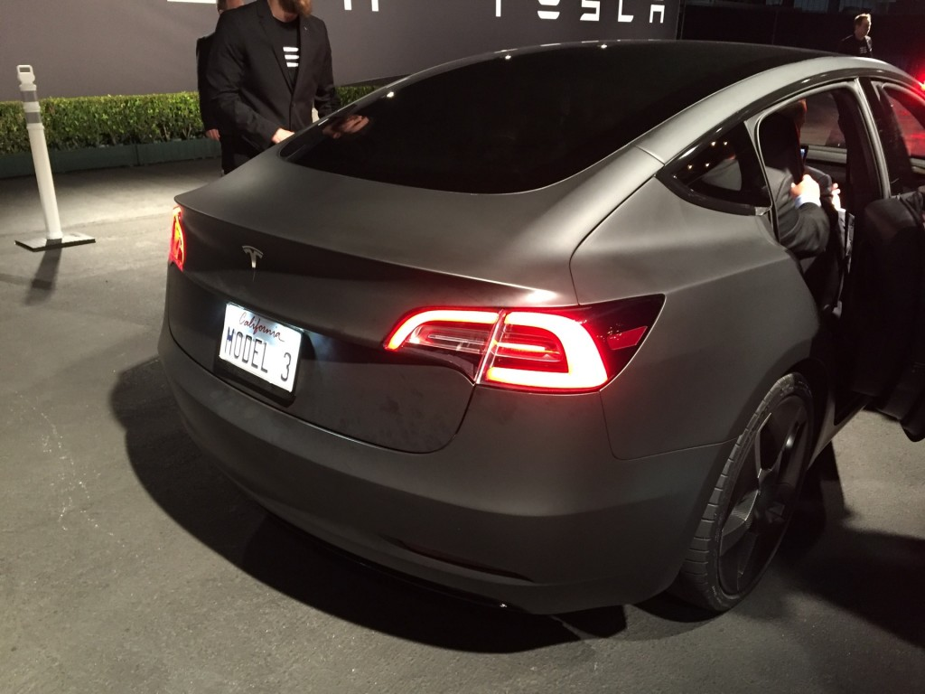 Image Tesla Model 3 Design Prototype Reveal Event