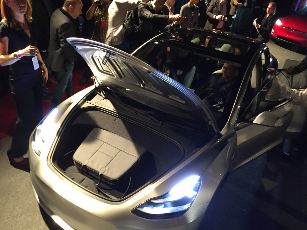 Image Tesla Model 3 Design Prototype Reveal Event