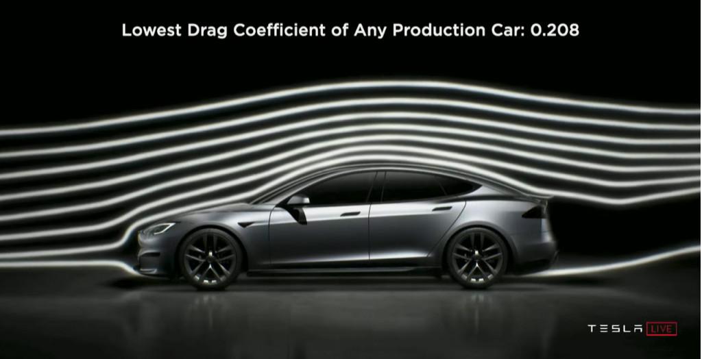 Tesla Model S Plaid aero