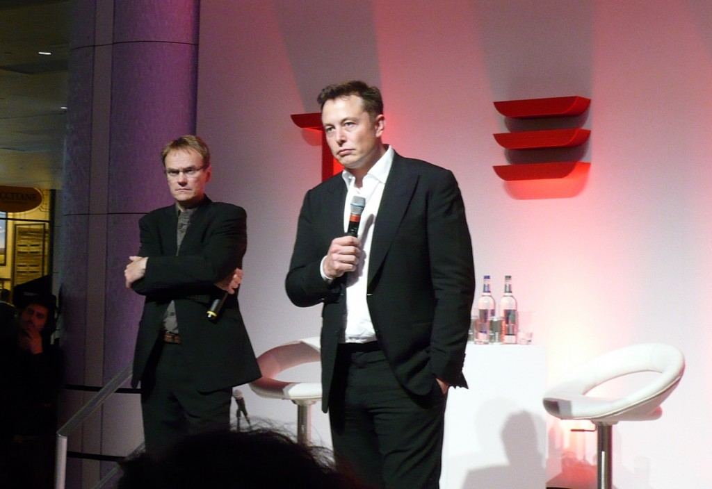 Tesla Motors CEO Elon Musk at Tesla Store opening in Westfield Mall, London, Oct 2013