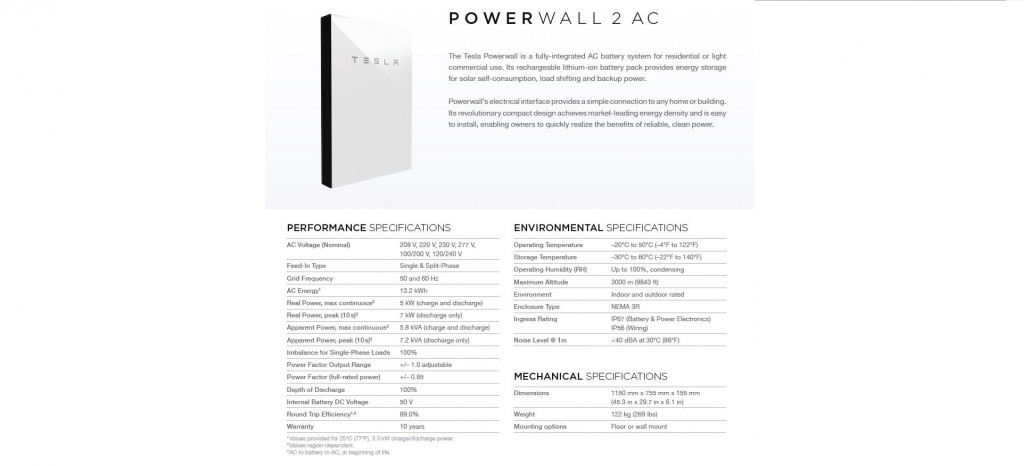 Tesla Powerwall 2 Specs >> Tesla S Solar And Battery Project In Hawaii We Do The Math