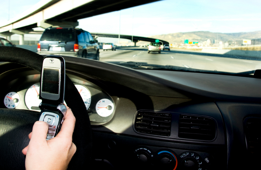 text message while driving