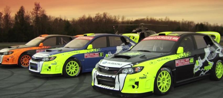 The 2012 Subaru PUMA Rallycross team