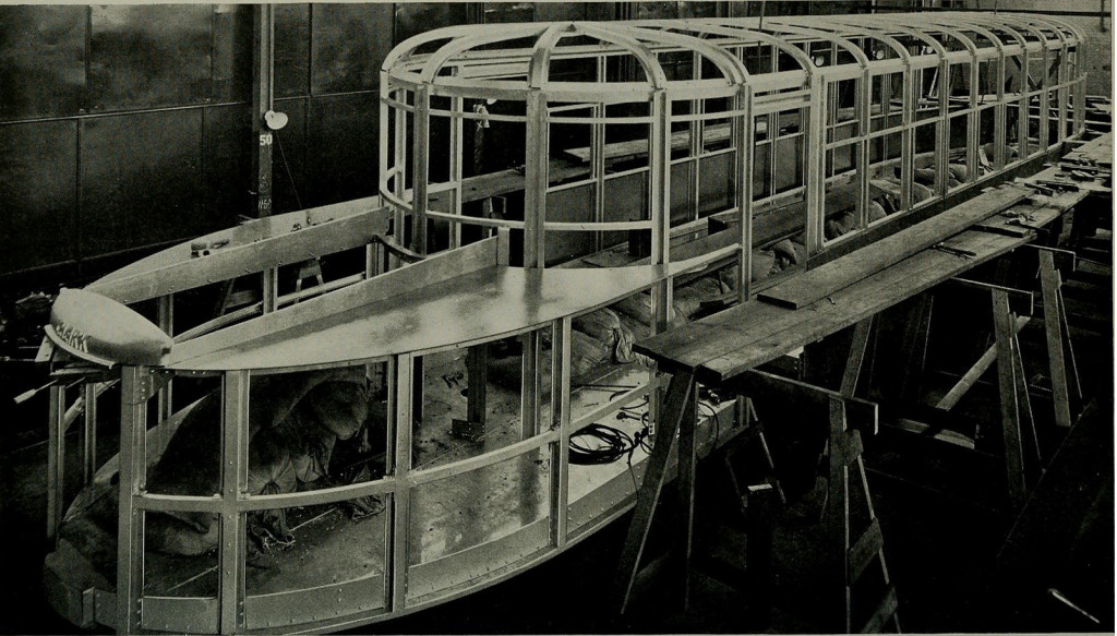 The Autotram was build from an aluminum material to keep it lightweight but strong