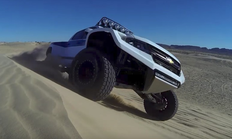 This custom Chevy Colorado pre-runner is an exercise in off-road excess
