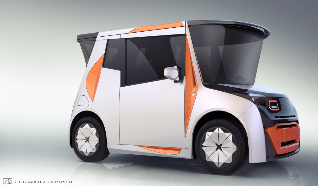 Chris Bangle designs a bigger-than-it-looks electric city car