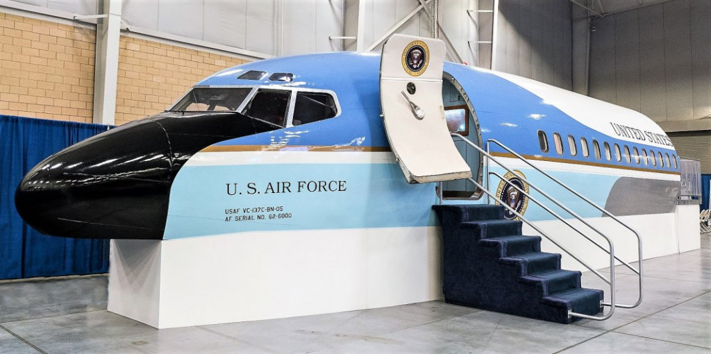The display mockup of the Boeing 707 Air Force One