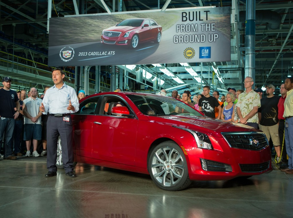 The first production Cadillac ATS, now bound for Barrett-Jackson - image: GM Corp