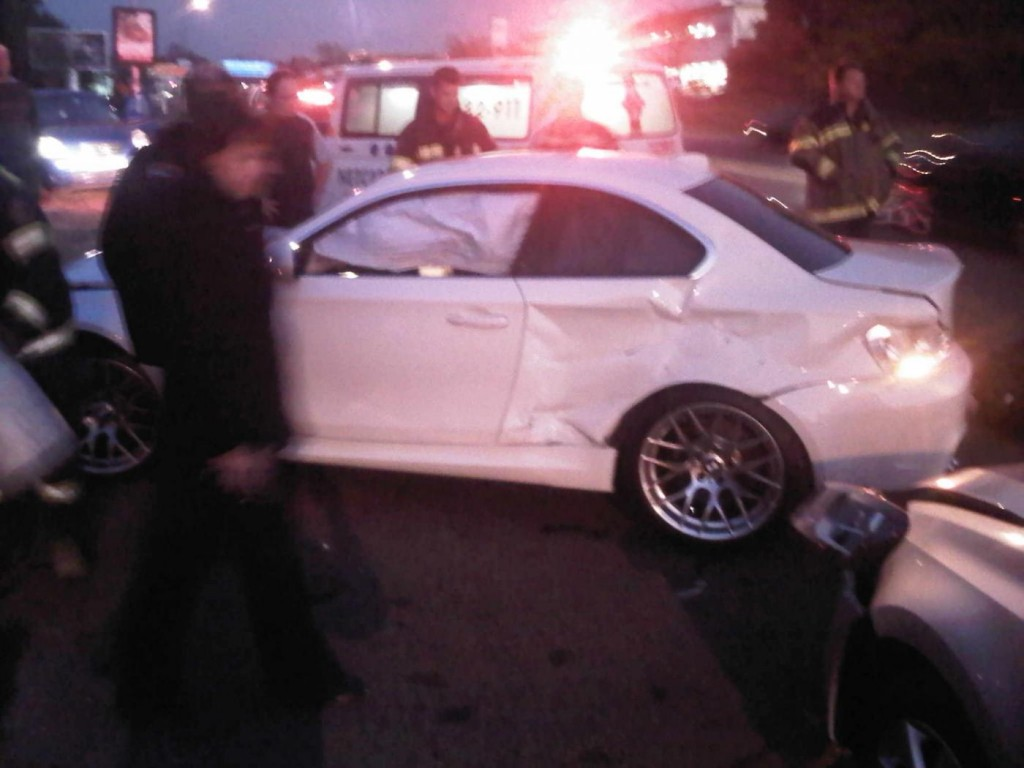 bmw 1-series m coupes face rough weekend, two more crashes